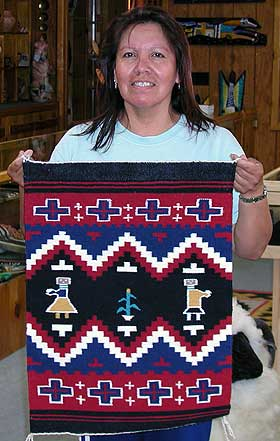 Navajo Rug Weaving By Anita Hathale Pictorial First Man