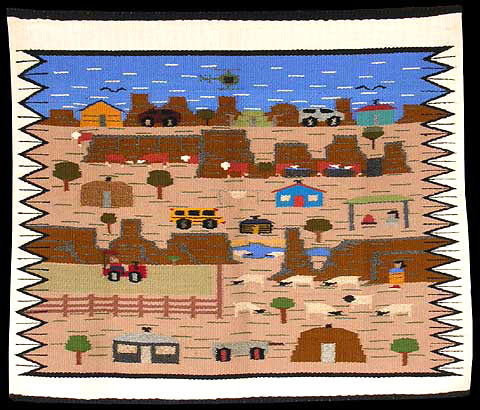 Navajo Rug Weaving By Cecilia Curley Pictorial Touring