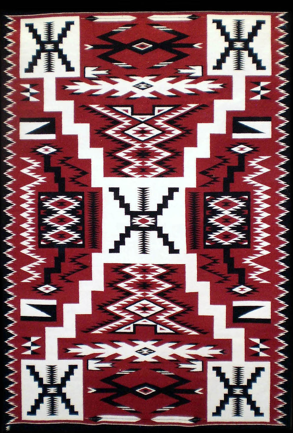 Navajo Rug Weaving By Shirley Coleman Storm Pattern