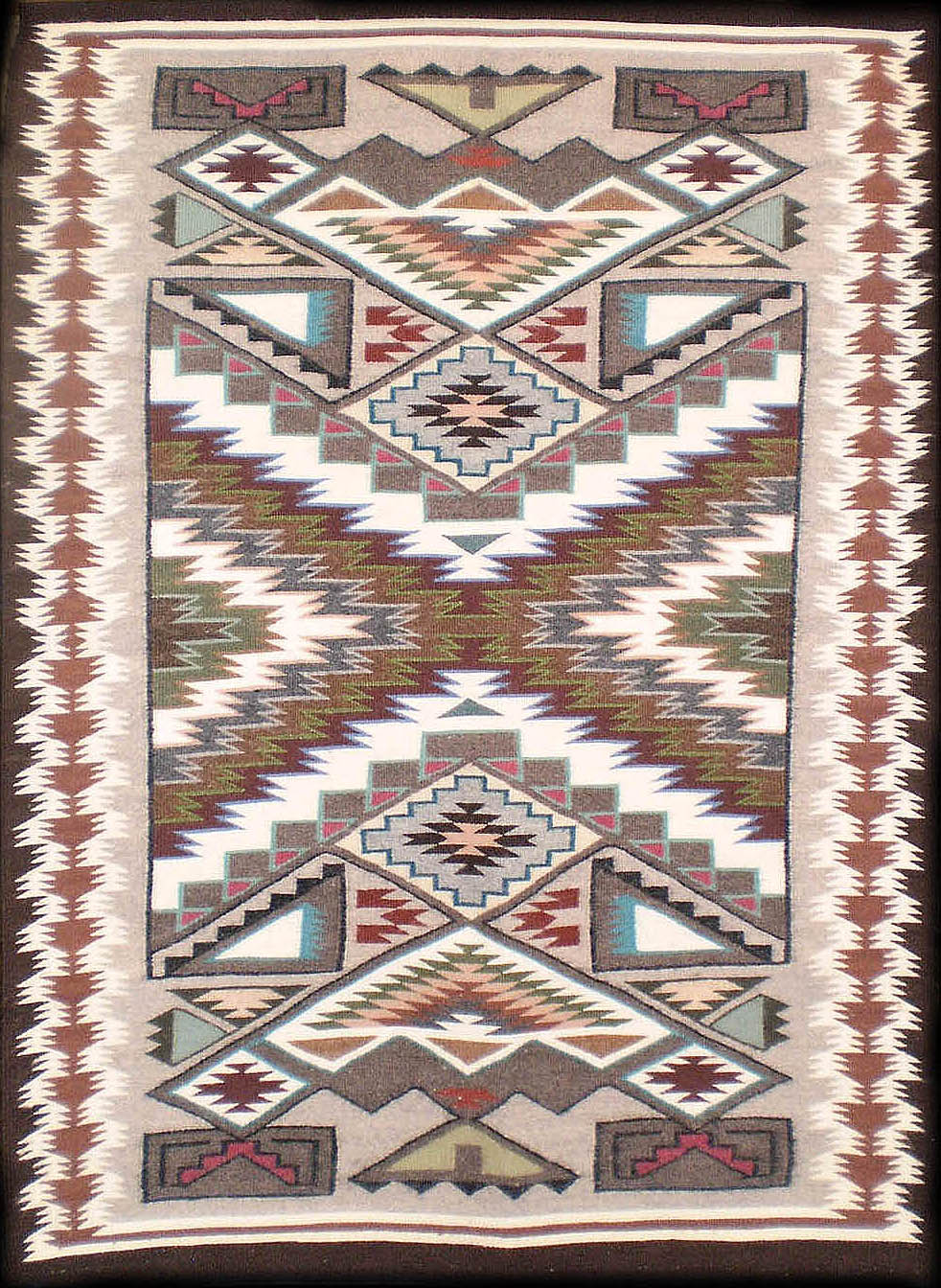 Navajo Rug Weaving By Angela Begay Teec Nos Pos