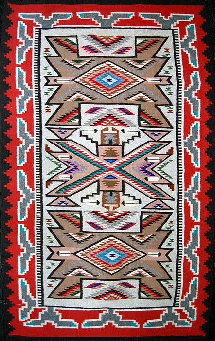 Navajo Rug Weaving By Daisy Kee Teec Nos Pos With Jewel