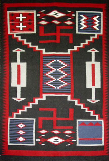 Navajo Rug Weaving by Susan Etsitty - Historic Storm with Whirling ...